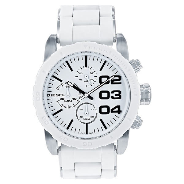 Diesel DZ5306 Stainless Steel Case Silicone Bracelet Chronograph
