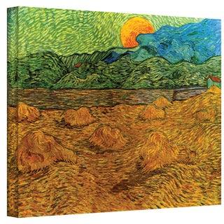 VanGogh 'Evening Landscape with Rising Moon' Wrapped Canvas Art