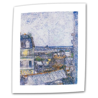 VanGogh 'Wall Paris from Vincent's Room' Flat Canvas Art