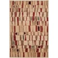 Orillia Tea Leaves Abstract Squares Plush Rug