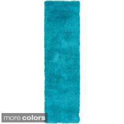 Hand-woven Guelph Soft Shag Rug (2'3 x 8')
