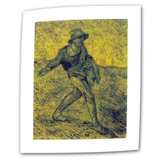 VanGogh 'The Sower' Flat Canvas Art