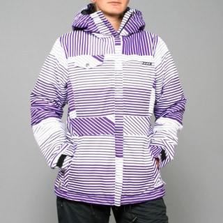 Zonal Women's 'Lender' Purple Stripe Snowboard Jacket