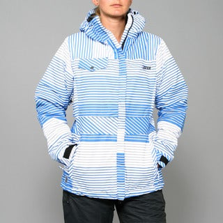 Zonal Women's 'Lender' Skydiver Stripe Snowboard Jacket