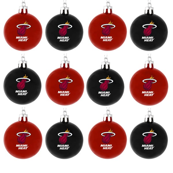 NBA 12-piece Plastic Ball Ornament Set