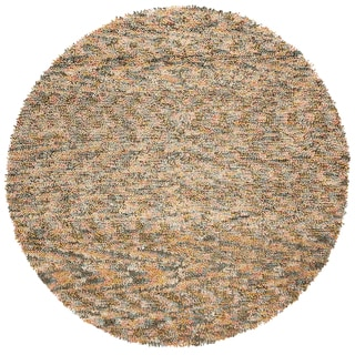 Hand-tufted 'Forks' Ivory Wool Rug (10' Round)