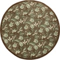 Hand-tufted 'Camas' Moss Green Wool Rug (10' Round)