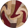 Hand-tufted &#39;Kalamazoo&#39; Burgundy/ Beige Wool Rug