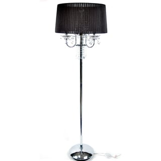 Crystal Black Silk Floor Lamp
