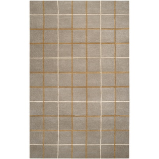 Hand-tufted Wetaskiwin Plaid Wool Rug