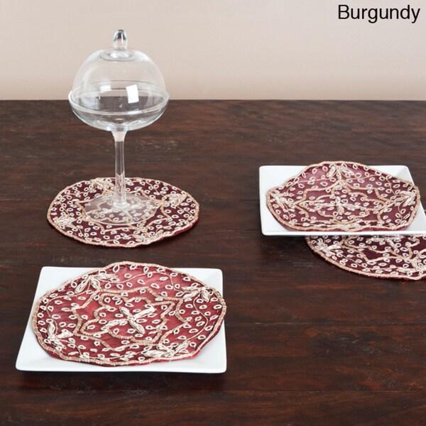 Handmade Beaded Coaster Doilies (Set of 4)