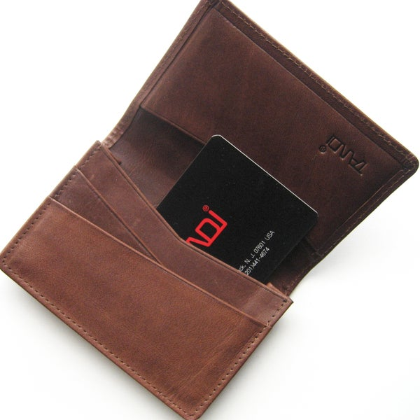 Joseph Daniel Brown Leather Credit Card Wallet
