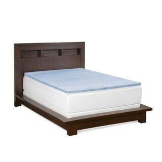 Select Luxury Reversible Comfort 2-inch Swirl Gel Memory Foam Mattress Topper