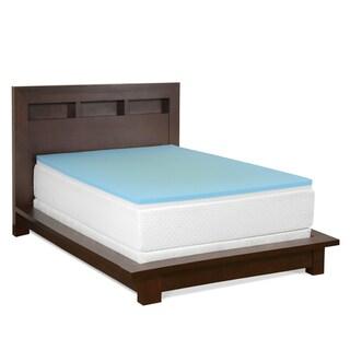 Select Luxury Reversible Comfort 2-inch Gel Memory Foam Mattress Topper