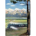 Retro Travel 'Northern Pacific Scenic Route' Stretched Canvas Art