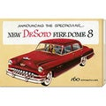 Retro Travel 'New DeSoto Firedome 8' Stretched Canvas Art