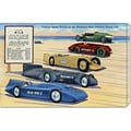 Retro Travel 'Famous Speed Racers on the Measured Mile' Stretched Canvas Art