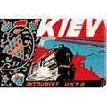 Retro Travel 'Kiev - Intourist U.S.S.R.' Stretched Canvas Art