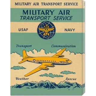 Retro Travel 'Military Air Transport Service' Stretched Canvas Art