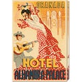Retro Travel 'Hotel Alhambra - Palace' Stretched Canvas Art