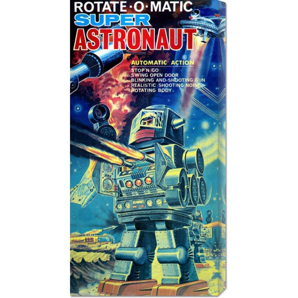 Big Canvas Co. Retrobot 'Rotate-O-Matic Super Astronaut' Stretched Canvas Art