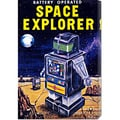 Retrobot 'Space Explorer' Stretched Canvas Art
