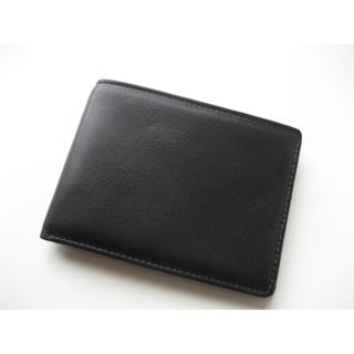 Joseph Daniel Black Leather Bi-fold Wallet
