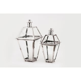 Horizon Polished Steel Lantern
