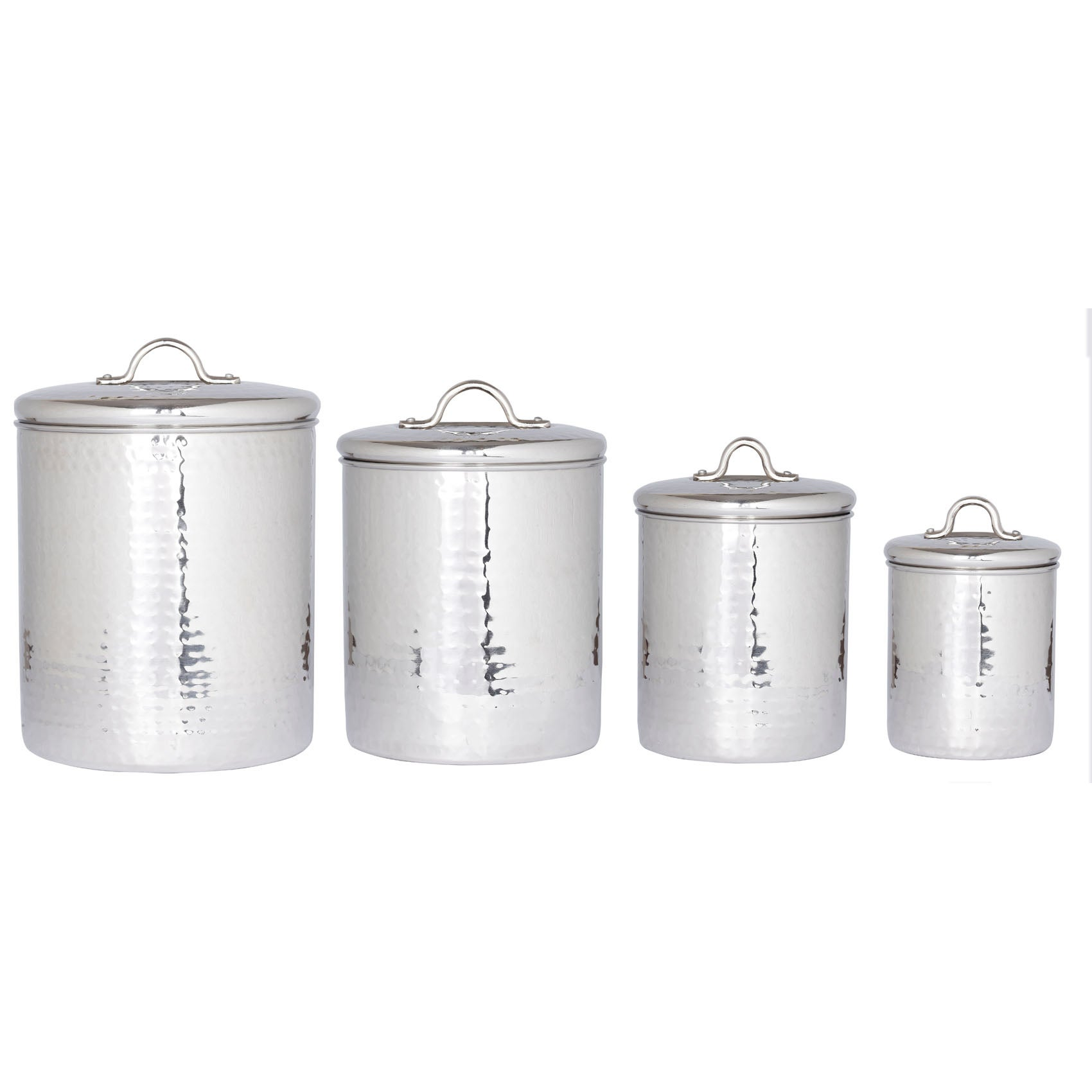 Overstock.com Old Dutch Stainless Steel Hammered Canisters (Set 4) at Sears.com