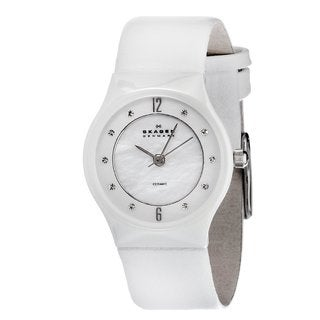 Skagen Women's Ceramic Crystal Accent Watch