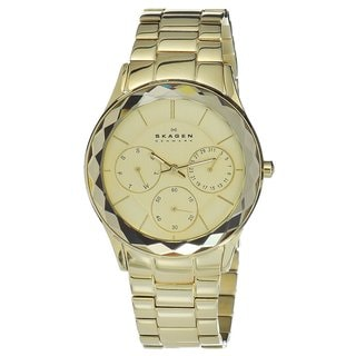 Skagen Women's Goldtone Link Multi-function Watch