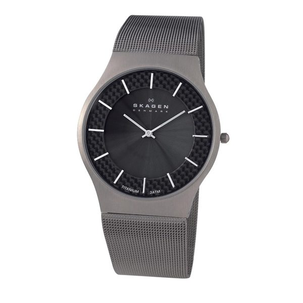 Skagen Men's Titanium Mesh Strap Watch
