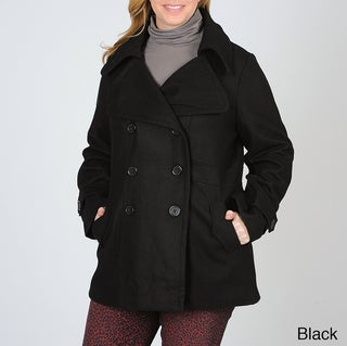 Latte by Coffeeshop Women's Plus-size Peacoat