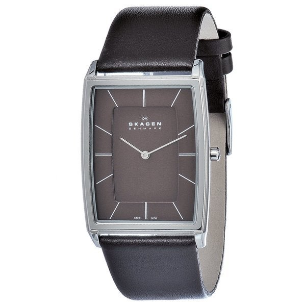 Skagen Men's Stainless Steel Rectangular Watch