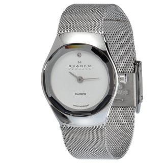 Skagen Women's Stainless Steel Crystal Watch with Mesh Strap
