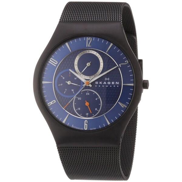 Skagen Men's Titanium Mesh Strap Multi-function Watch