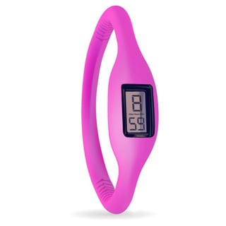 TAGI Gear Women's 'Ion' Fuschia Silicone Strap Watch