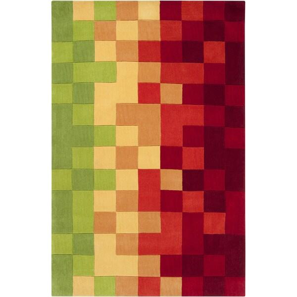 Hand-tufted Tetonia Multicolor Geometric Rug