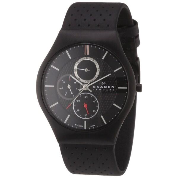 Skagen Men's Black Titanium Multi-function Watch