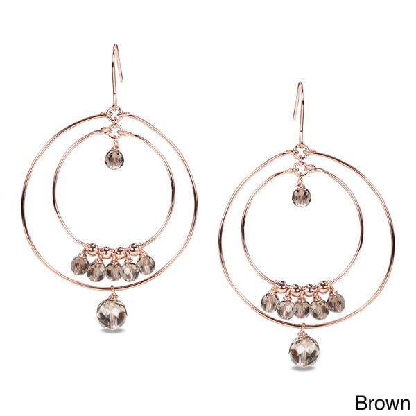 M by Miadora 18k Goldplated Gemstone Dangle Earrings