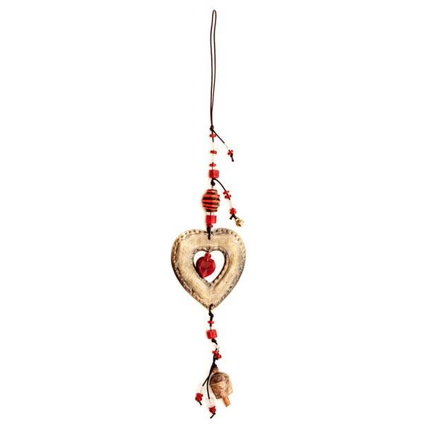 Handmade Love Me Wind Chime (India) 10378740