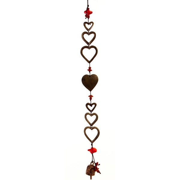 It's Raining Hearts Wind Chime (India)