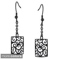 M by Miadora Stainless Steel Dangle Earrings