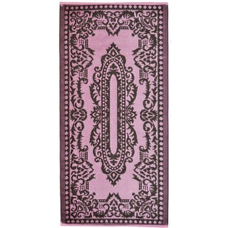 Indoor/Outdoor Rug Lilac & Coffee (6' x 4') (India)