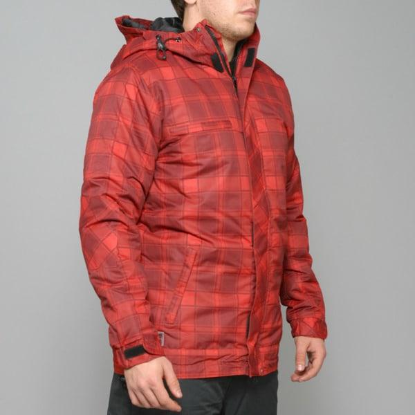 Zonal Men's 'Redwood' Red Snowboard Jacket