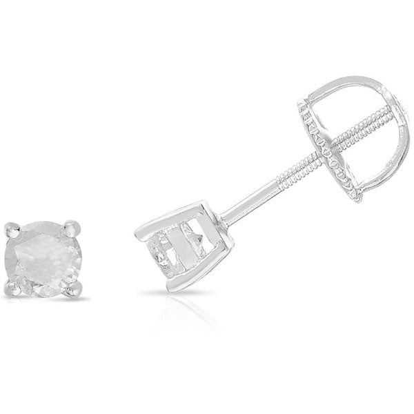 Finesque Sterling Silver Diamond Single Stud Earring 10378983