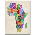 Michael Tompsett 'Africa Text Map' Canvas Art