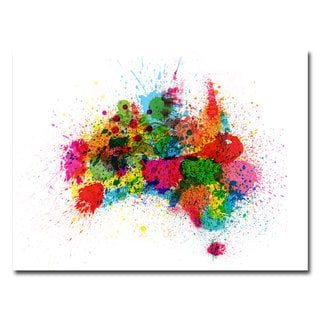 Michael Tompsett 'Australia Paint Splashes' Canvas Art