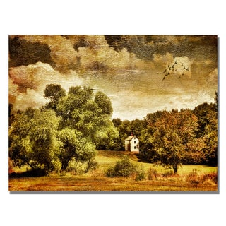 Lois Bryan 'Old Farm House' Canvas Art