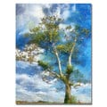 Lois Bryan 'The Tree Stands Alone' Canvas Art